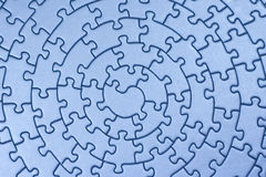 Completi il puzzle blu Immagini Stock