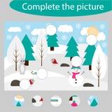 Completi il puzzle e trovi le parti mancanti dell'immagine, il gioco per i bambini, foglio di lavoro prescolare di istruzione di  illustrazione vettoriale