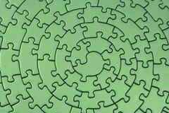 Completi il puzzle verde Fotografia Stock