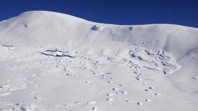 Completi la neve bianca di area dello sci di Nassfeld in Austria Immagine Stock Libera da Diritti