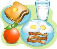 Completi la prima colazione Fotografie Stock
