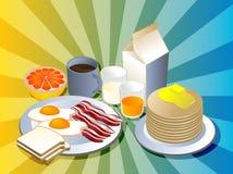 Completi la prima colazione Fotografia Stock