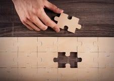 Completi un puzzle Immagini Stock Libere da Diritti