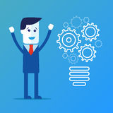 Completing Idea. Business illustration Stock Photo