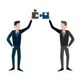 Completing Idea. Metaphor of business solution. Stock Images
