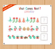Completing the Pattern Educational Game for Preschool Children Royalty Free Stock Image