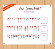 Completing the Pattern Educational Game for Preschool Children Stock Photography
