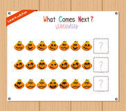 Completing the Pattern Educational Game for Preschool Children Royalty Free Stock Photography