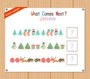 Completing the Pattern Educational Game for Preschool Children Stock Images