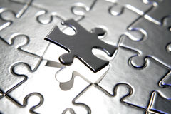Completing the puzzle Royalty Free Stock Images