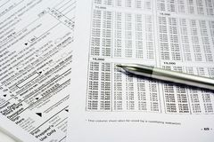 Completing Tax Forms Royalty Free Stock Image