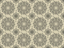 Complex ancient floral pattern. Illustration of ancient floral pattern. Also include vector .eps format Stock Photo