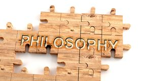 Free Complex And Confusing Philosophy: Learn Complicated, Hard And Difficult Concept Of Philosophy,pictured As Pieces Of A Wooden Stock Image - 164572451