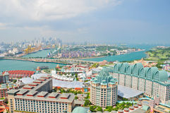 Sentosa,Singpore. Complex on April 24, 2011 in Sentosa, Singapore. Sentosa is popular island resort in Singapore with more than 5 mln visitors per year Stock Image
