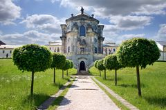 Complex of baroque hospital from 1692 with M.B. Braun statues, Kuks, East Bohemia, Czech Republic. CZECH REPUBLIC, KUKS - JUN 18, 2007: complex of baroque Royalty Free Stock Images