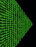 Complex binary code in green Royalty Free Stock Images