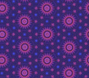 Complex blue-violet floral pattern Stock Photography