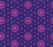 Complex blue-violet floral pattern Stock Photography