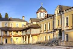 Abkhazia. New Athos Simon the Zealot Monastery. Complex of buildings of the ancient Christian monastery on Mount Athos Royalty Free Stock Photos