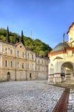 Abkhazia. New Athos Simon the Zealot Monastery. Complex of buildings of the ancient Christian monastery on Mount Athos Stock Images