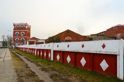 Complex of buildings of Dobrush paper factory year of construction 1870, Belarus Stock Images