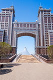 Complex of buildings on the National Corporation KazMunaiGas Round Square in Astana Stock Images