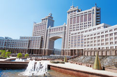 Complex of buildings on the National Corporation KazMunaiGas Round Square in Astana Stock Photography