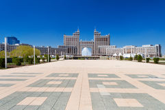 Complex of buildings on the National Corporation KazMunaiGas Round Square in Astana Royalty Free Stock Photos
