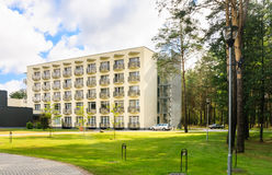 The complex of buildings of the Spa Resort Medical Egle sanatorium Royalty Free Stock Images
