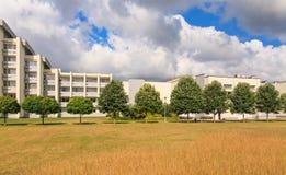 The complex of buildings of the Spa Resort Medical sanatorium.  Druskininkai Stock Photo