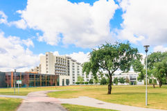 The complex of buildings of the Spa Resort Medical sanatorium.  Druskininkai Royalty Free Stock Photo