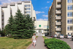 The complex of buildings of Spa Resort Medical sanatorium Royalty Free Stock Image