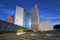 The complex of buildings and the terrace of the central office of Swedbank royalty free stock photos