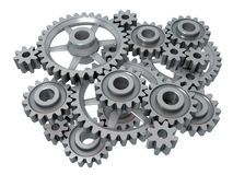 Complex cogwheels Stock Photo
