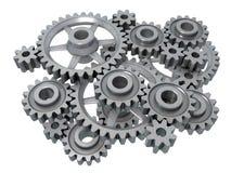 Complex cogwheels Stock Photo