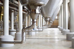 Complex construction of cisterns for beer Royalty Free Stock Images