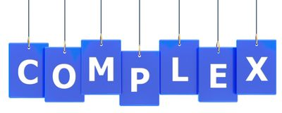 Complex tag banner. Complex 3d rendered blue tag banner , isolated on white background Stock Image