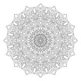 Complex detailed black Mandala on white background Stock Photo