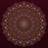 Complex, detailed mandala - round vector ornament Royalty Free Stock Image