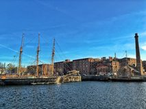 The Royal Albert Dock Liverpool royalty free stock image
