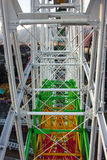 Complex Ferris Wheel. The difference perspective of ferris wheel, messy but structured Royalty Free Stock Photography