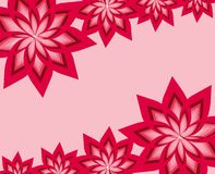 Complex floral frame. Frame with space for writing vector illustration