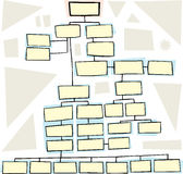 Complex Flowchart. Hand drawn flowchart for family trees or business Royalty Free Stock Photos