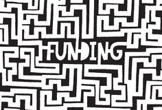Complex funding maze or tough labyrinth Royalty Free Stock Photos