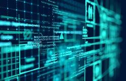 Complex Futuristic Big Data Background stock image
