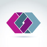 Complex geometric corporate element. Vector abstract colorful fi Royalty Free Stock Photos