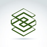Complex geometric corporate element. Stock Images