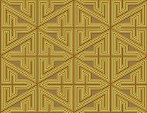 Complex geometric seamless pattern maze. Abstract design of straight lines and angles to form a labyrinthine maze royalty free illustration