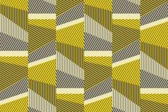 Complex geometrisch strepen naadloos patroon royalty-vrije illustratie