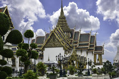 The complex of Grand Palace in Bangkok. It served as the official residence of Thai Kings at the end of the XIX century Stock Photos